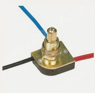 Brass 3 Way Push Switch Metal Two Circuit sku2151