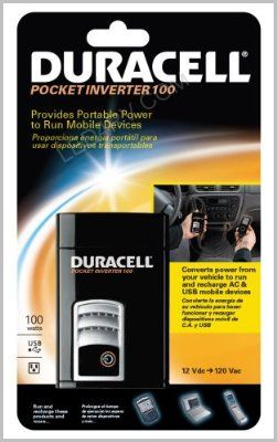 Duracell 100 Watt DC to AC Pocket Power Inverter SKU426