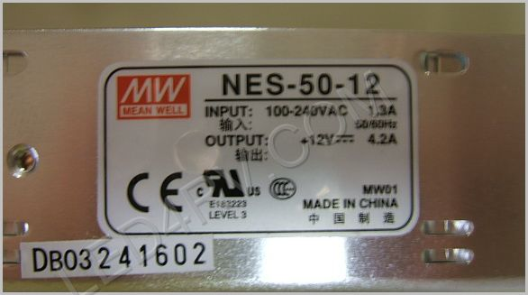 AC to DC Power Supply Single- Output 12 Volt 4.2A SKU393