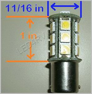 1142 Bright White 18 SMD Cluster LED SKU582 - Click Image to Close