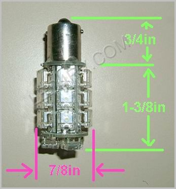 1156 Bright White 20 LED Cluster light SKU584 - Click Image to Close