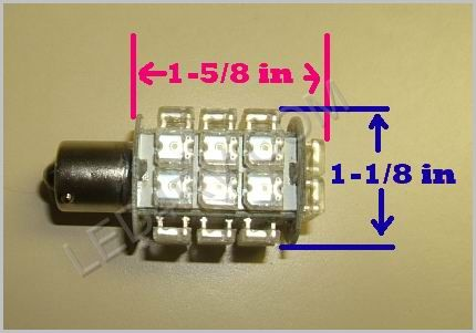 1156 28 LED Bright White Cluster light SKU586