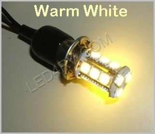 1156 Warm White 18 SMD LED Cluster Light SKU597 - Click Image to Close