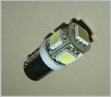 Bax9s socket 5 LED in Bright White SKU110