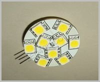 9 LED Warm White Chip Straight pins C9WWThin