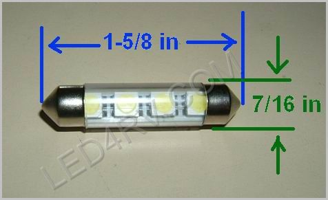 Festoon 4 LED Warm White F4LED-WW SKU187