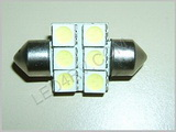 Festoon 6 LED Bright White F6x5050LED-BW SKU188