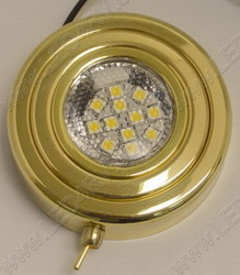 Brass Bright White Puck Light with Switch sku151