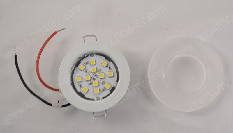 12 LED Warm White with Brackets and Frosted Glass Lens SKU2122
