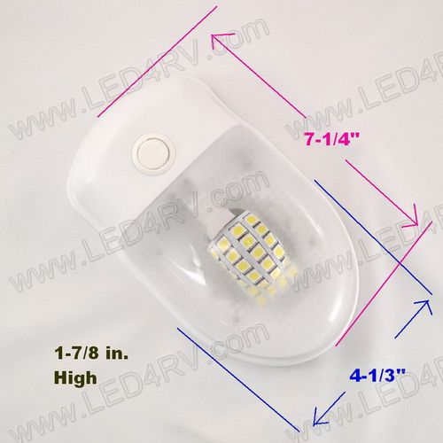 Interior 24 Warm White LED Dome Light with Switch SKU1932