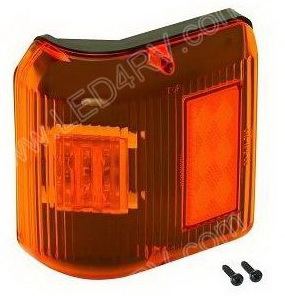 Bargman 86 Series Amber LED Wrap Marker Light sku2257