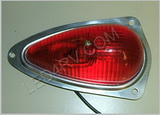Vintage Red Teardrop Marker Light 55-8306 SKU553