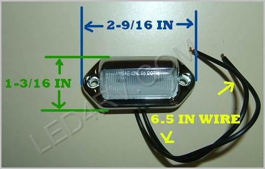 LED License and Step Entrance Lamp LED2020 SKU228