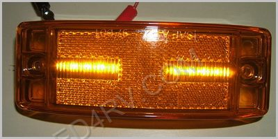 Amber 8 LED Clearance Marker Light LED21Y SKU414