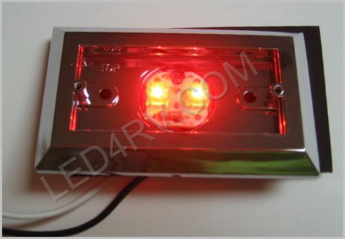 Red 2 LED Thin Marker Light LED2RM SKU229