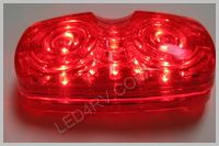 16 Red LED Sealed Bullseye Running Light LED508R16 SKU234