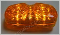 16 Amber LED Sealed Bullseye Running Light LED508Y16 SKU236