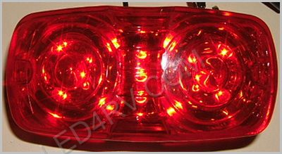 13 Red LED Sealed Bullseye Running Light SKU233 - Click Image to Close