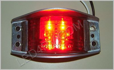 Armored LED Marker Clearance Red LED534R SKU364 - Click Image to Close