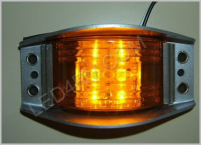 Armored LED Marker Clearance Amber LED534Y SKU363