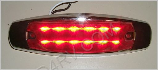 Chrome Bezel Marker-Clearance LED Light LED542R SKU633