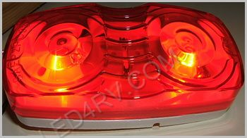Double Bullseye Red Marker Light LT506R SKU260 - Click Image to Close