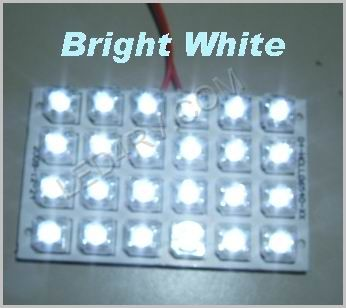 1156 Socket 24 LED Bright White Pad SKU509