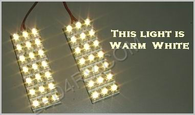1156 Socket with 42 Warm White LEDs on 2 Pads 1156Px2WW SKU514