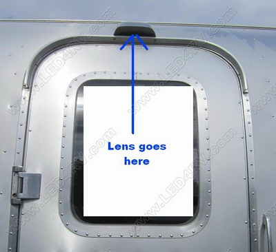 Over the door Clear lens for Airstream SKU993