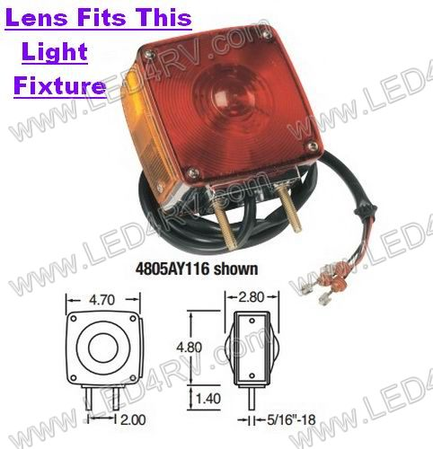 Amber Replacement Lens for 4800A Light SKU1926 - Click Image to Close