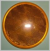 Amber 3-3/16 in Round Reflector LT210Y SKU387