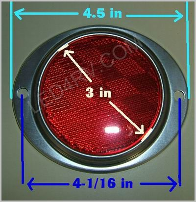 3 in Red Reflector in Aluminum Housing LT218R SKU383