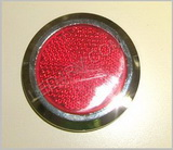 Red Chrome Bezel Peel and Stick Reflector LT238R SKU432