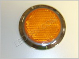Amber Chrome Bezel Peel and Stick Reflector LT238Y SKU431