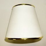 Small White shade with Gold trim SH11 SKU308