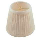 Pleated Off White Spider Style Lamp Shade SH12G SKU309