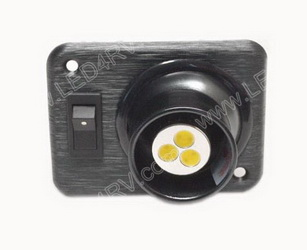 Bright White LED Eyeball light with Black Square base sku2402