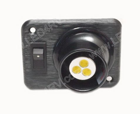Warm White LED Eyeball light with Black Square base sku2403