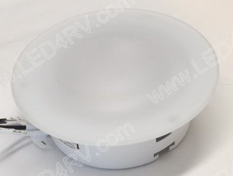 LED Recessed Light with 21 Warm White LEDs Glass Lens sku2409