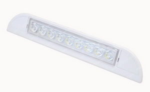 Triangle Shaped 9 LED 12 Volt White Light sku2411