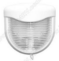 Bargman 30-80-003 Porch Light with White Base, Clear Lens SKU528