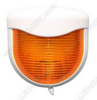 Bargman 30-80-004 Porch Light with White Base, Amber Lens SKU529