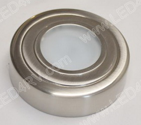 Brushed Nickel Bright White Puck Light sku2427