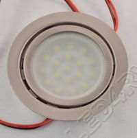 18 Warm White LED Brushed Nickel Down Light SKU135