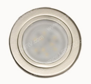 9 Warm White LED Brushed Nickel Down Light SKU2383