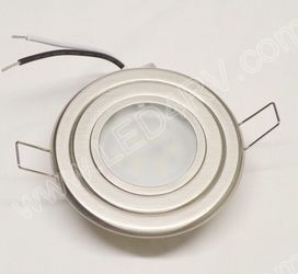 Warm White LED Brushed Nickel Down Light wBracket SKU2387