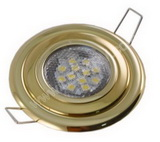 Premium Flush Mnt12 Bright White LED Light-Polished Brass SKU155