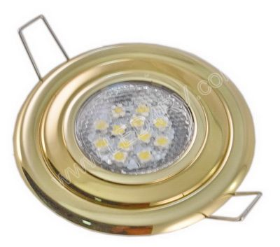 Premium Flush Mnt 12 Warm White LED Light-Polished Brass SKU157