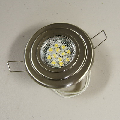 Premium Flu-Mnt 12 Bright White LED Light-Brushed Nickel SKU158