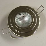 Premium Flush Mount Overhead Halogen Light-Brushed Nickel SKU159